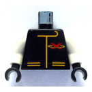 LEGO Extreme Team Torso with Red X and Yellow Zipper and Pockets with White Arms and Black Hands (973)