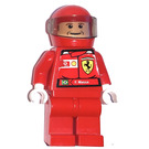 LEGO F. Massa with Torso Stickers and Plain Red Helmet Minifigure
