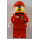 LEGO F1 Ferrari Pit Crew with Stickered Ferrari Logo Torso Minifigure
