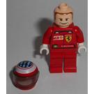 LEGO F1 Ferrari R. Barrichello with Helmet and Torso Stickers Minifigure