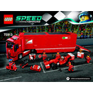 LEGO F14 T & Scuderia Ferrari Truck Set 75913 Instructions