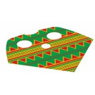 LEGO Fabric Poncho with Green and Red Design (16479)