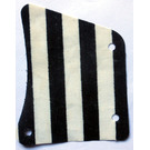 LEGO Fabric Sail 9 x 11 with Black Stripes and 3 Holes