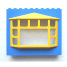 LEGO Fabuland Building Wall 2 x 10 x 7 with Yellow Bay Window