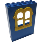 LEGO Fabuland Building Wall 2 x 6 x 7 with Yellow Squared Window