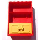 LEGO Fabuland Cupboard 2 x 6 x 7 with Yellow Doors