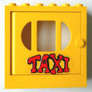LEGO Fabuland Door Frame 2 x 6 x 5 with Yellow Door with Taxi Sticker from Set 338-2