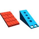 LEGO Fabuland Roof Support with Red Roof Slope and Chimney Hole (787)