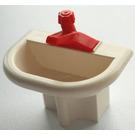 LEGO Fabuland Washbasin with Red Tap