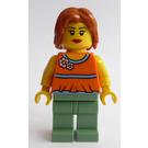 LEGO Fairground Mixer Female with Orange Blouse Minifigure