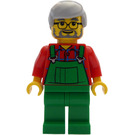 LEGO Farmer with Medium Stone Gray Hair and Glasses Minifigure