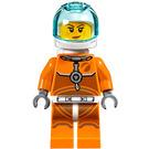 LEGO Female Astronaut in Orange Space Suit Minifigure