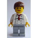 LEGO Female Chef with Ponytail Hair Minifigure
