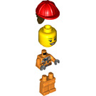 LEGO Female Construction Worker with Dark Stone Gray Hoodie Minifigure