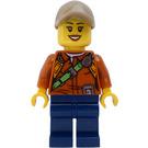 LEGO Female Explorer with Hat Minifigure