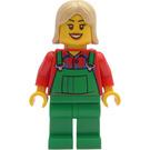 LEGO Female Farmer Green Overall Minifigure