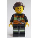LEGO Female Firefighter With Brown Hair Minifigure