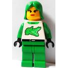LEGO Female Grip 'n' Go Racer with Green Hair Minifigure