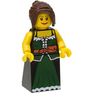 LEGO Female Peasant with Dark Green Robe Minifigure