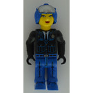LEGO Female Police Officer with Blue Helmet Minifigure