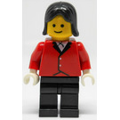 LEGO Female Rider with Red Jacket and Black Hair Minifigure