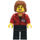 LEGO Female Train Passenger with Press Badge Minifigure