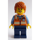 LEGO Female Training Jet Transporter Service Car Driver Minifigure