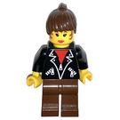 LEGO Female with Leather Jacket Minifigure