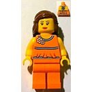 LEGO Female with Orange Top (Alpharetta) Minifigure