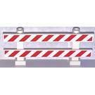 LEGO Fence 1 x 8 x 2 with Red white Danger stripes Sticker (6079)