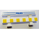 LEGO Fence 1 x 8 x 2 with yellow warning blocks and blue police Stickers from Set 7286 (6079)