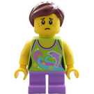 LEGO Ferris Wheel Girl with Lime Shirt Minifigure