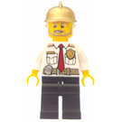 LEGO Fire Chief with Gold Helmet Minifigure