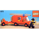 LEGO Fire Engine and Trailer Set 672