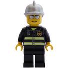 LEGO Fire Fighter Silver Helmet Minifigure