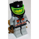 LEGO Fire Fighter with Black Breathing Helmet and Blue Airtanks Minifigure