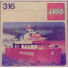 LEGO Fire Fighting Launch Set 316-1 Instructions