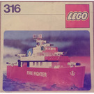 LEGO Fire Fighting Launch Set 316 Instructions