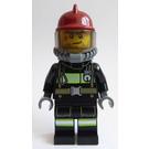 LEGO Firefighter Male Dark Red Helmet Minifigure