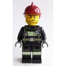 LEGO Firefighter With Dark Red Helmet Minifigure