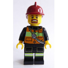 LEGO Firefighter With Dark Red Helmet Minifigure