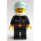 LEGO Firefighter with Flame Badge and White Helmet Minifigure