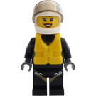 LEGO Firefighter with Life Jacket Minifigure