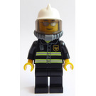 LEGO Firefighter with mirrored glasses air tanks and white helmet Minifigure