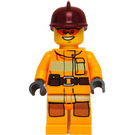LEGO Firefighter with Orange Sunglasses Minifigure