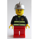 LEGO Firefighter with Silver Helmet Minifigure