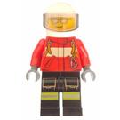 LEGO Firefighter with White Helmet Minifigure