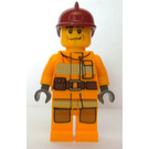 LEGO Firefighter with Yellow Suit and Red Helmet Minifigure