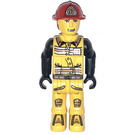 LEGO Fireman with 07 on Helmet Minifigure