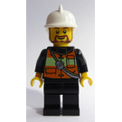 LEGO Fireman with Beard Minifigure